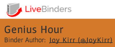 Genius Hour LiveBinder