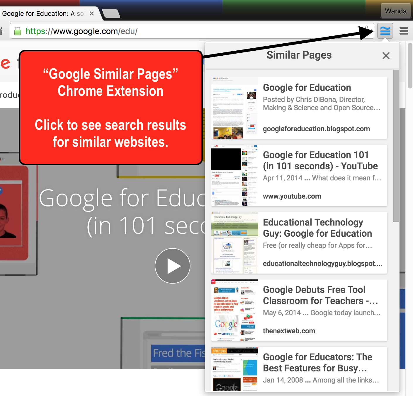 """Google Similar Pages: Chrome Extension"