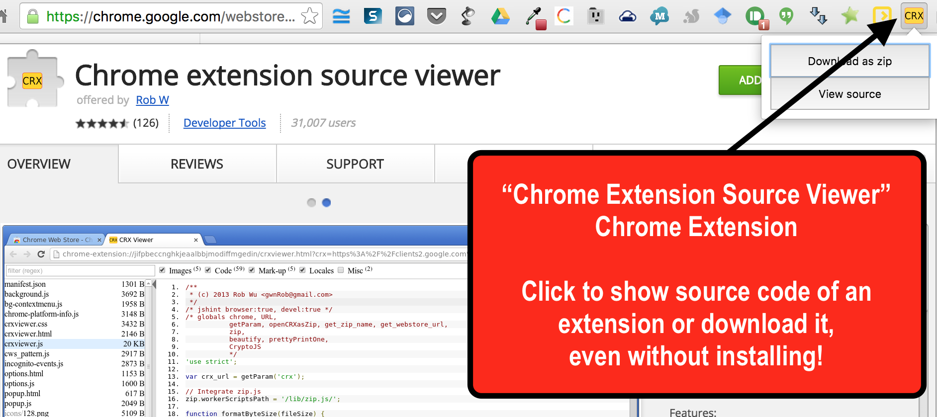Chrome Extension Viewer
